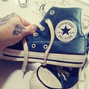 Converse blue soft to touch size 7
